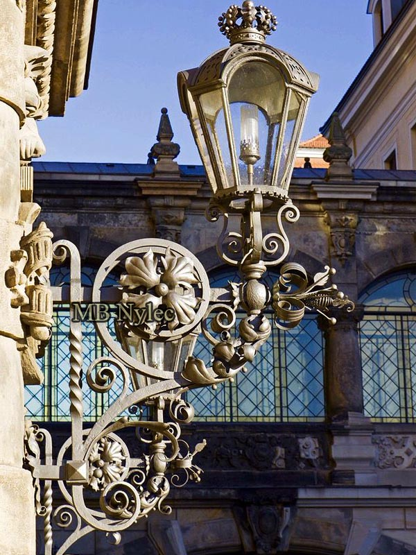 Palace wrought wall lamp