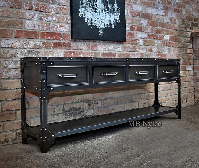 Steel chest of drawers in the loft type
