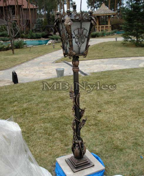Steel lamp forged