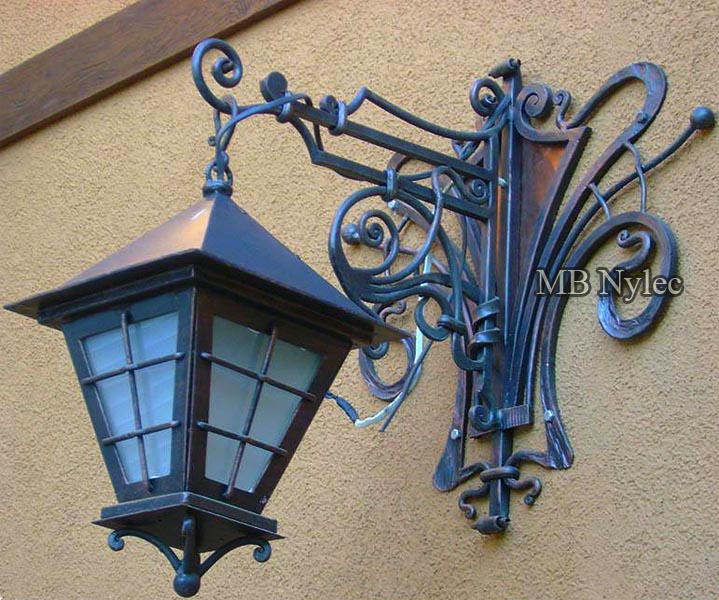 Traditional forged wall lamp
