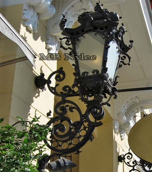 Wrought baroque wall lamp