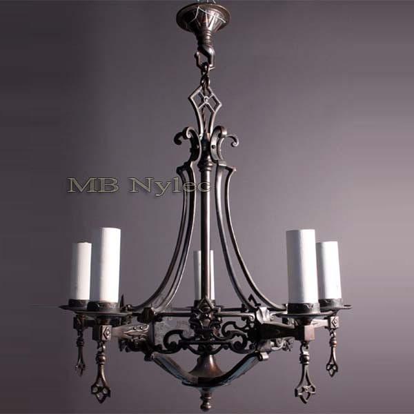 Wrought chandelier