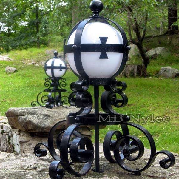 Wrought lamp in the knightly, Celtic style