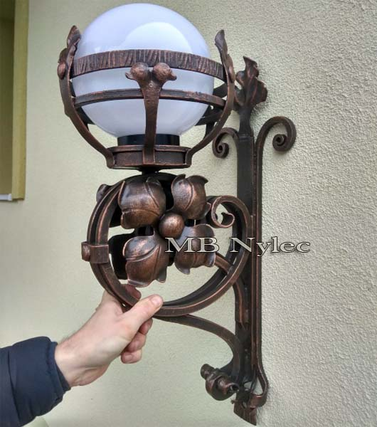 Wrought wall lamp