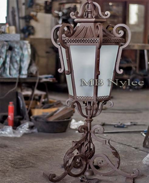forged lamp garden