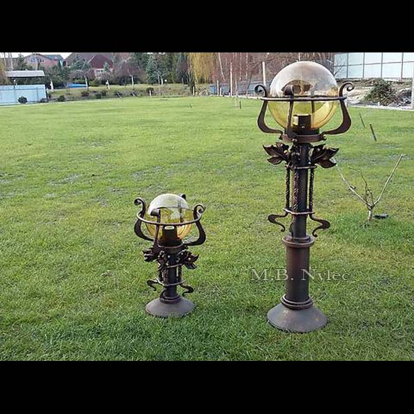 garden forged lamp