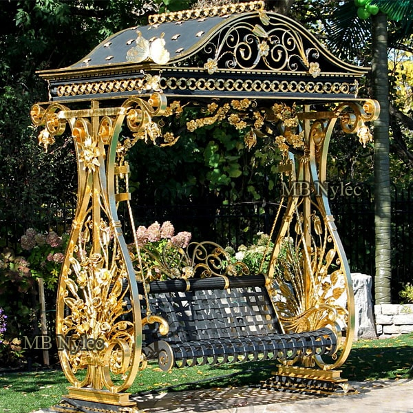 Beautiful forged glamor-style garden swing