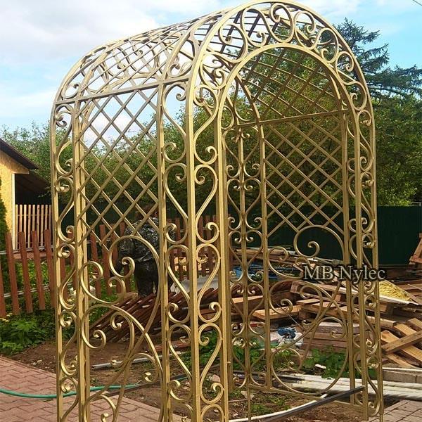 Classic forged garden pergola