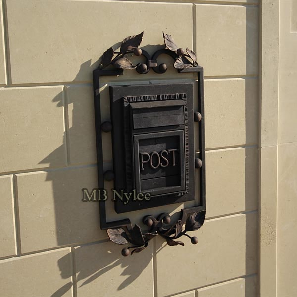 Elegant forged letterbox