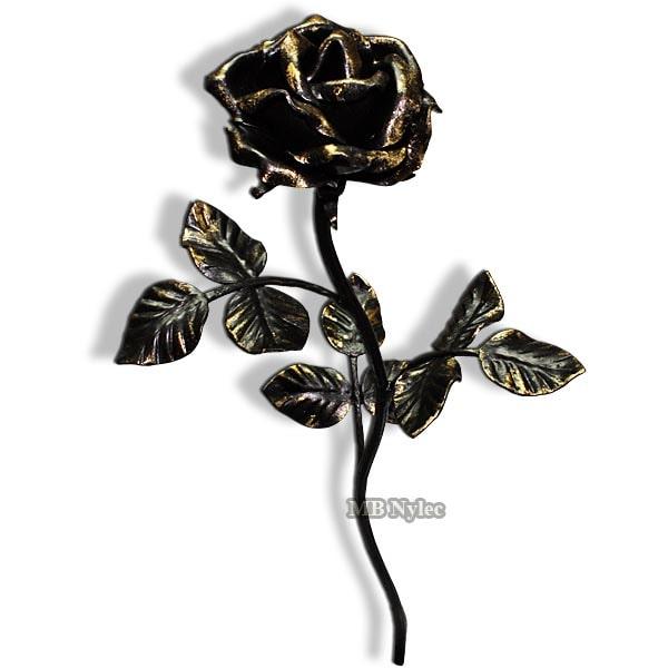 Elegant forged rose - for a gift - 50 cm