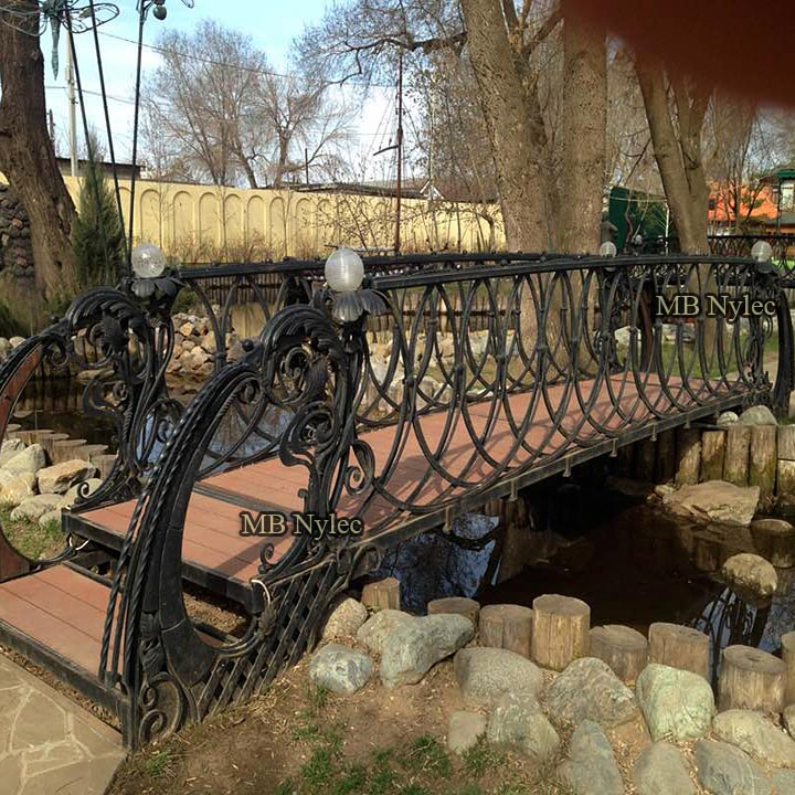 Forged decorative garden park bridge