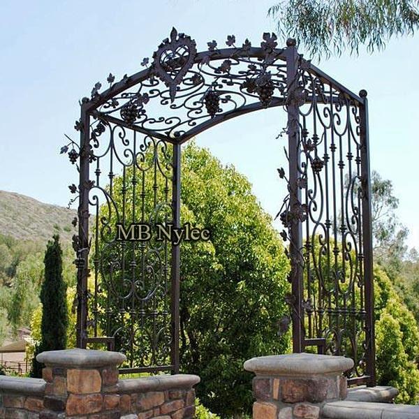 Forged garden pergola
