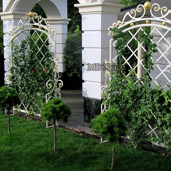 Forged garden trusses in a glamor style