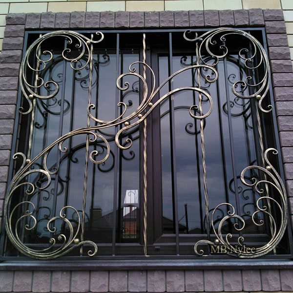 Forged window grilles