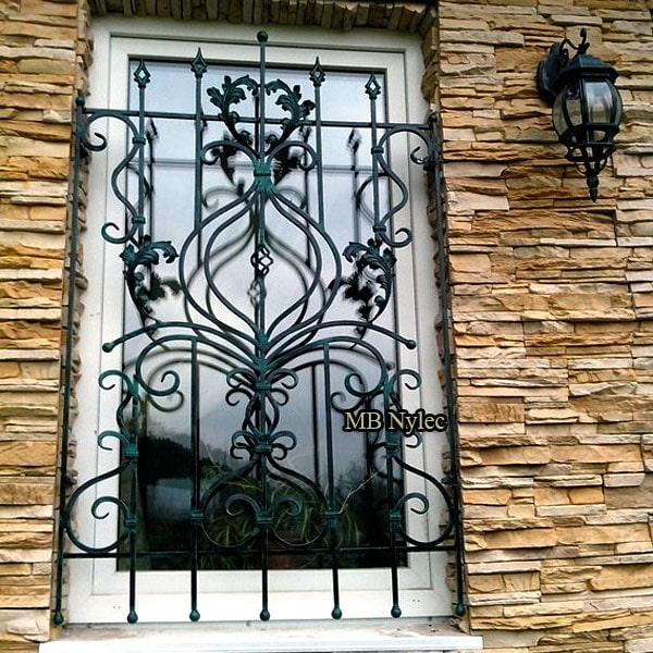 Hand-forged window lattice