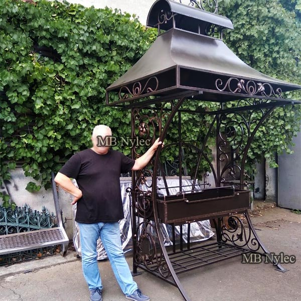 Large blacksmith garden grill