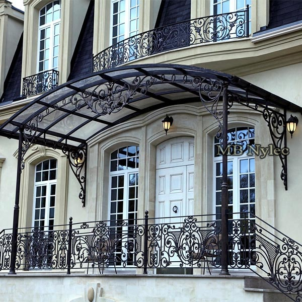 Large forged canopy with columns