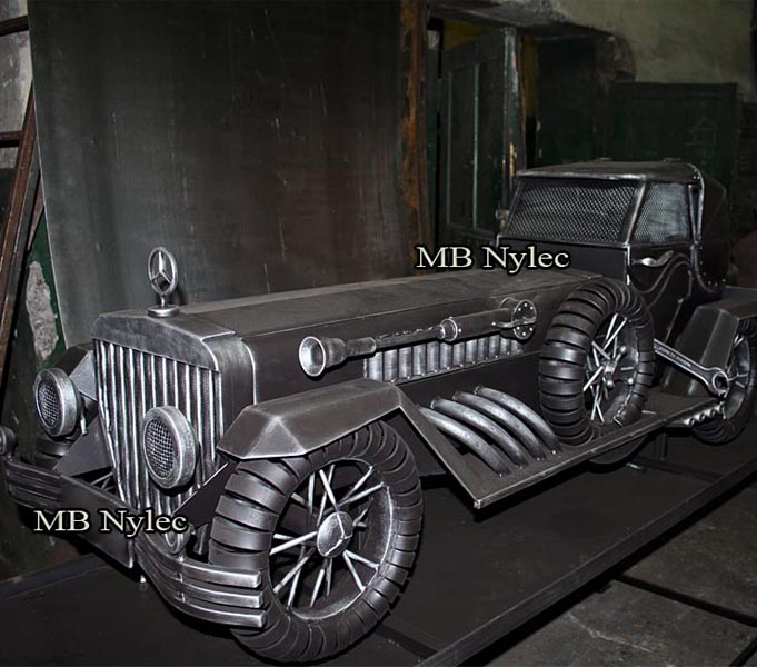 Steel forged car - retro Mercedes