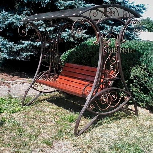 Steel swing for the garden