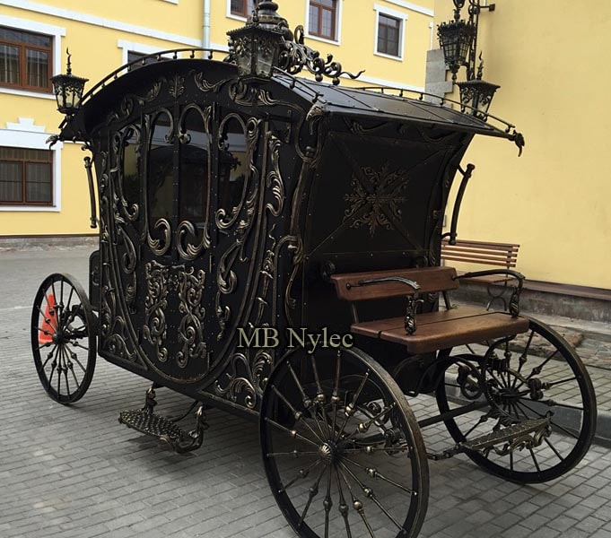 Wrought steel carriage, hand-forged