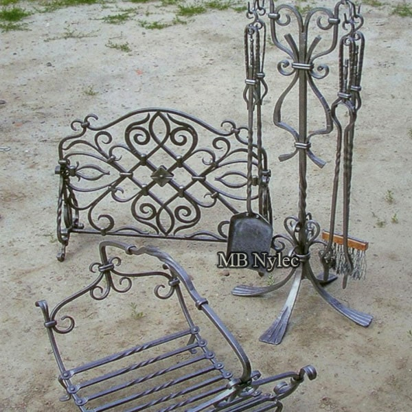 Forged accessories for the fireplace