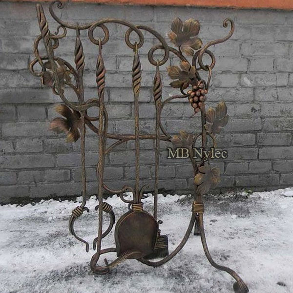 Wrought fireplace set
