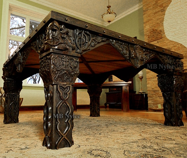 exclusive forged knight table artistic blacksmithing